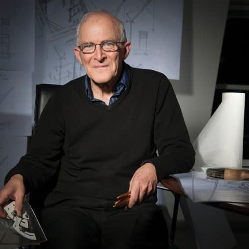 portrait of Ron Slade, man with glasses and black jumper