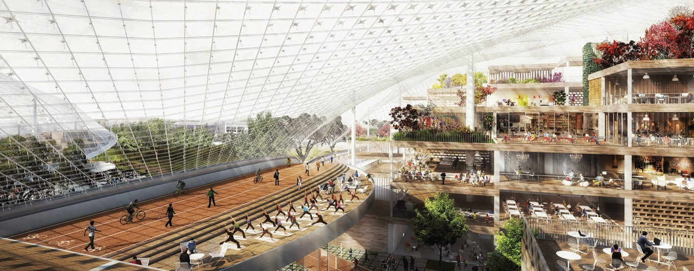 Google HQ California- Running Track- Canopy