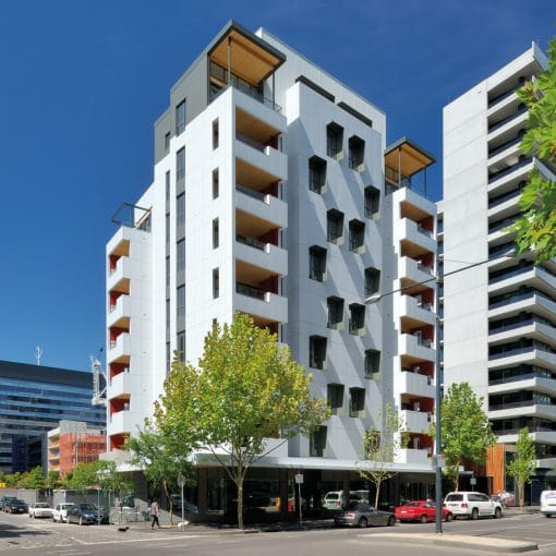 Forte Building in Melbourne- White Facade