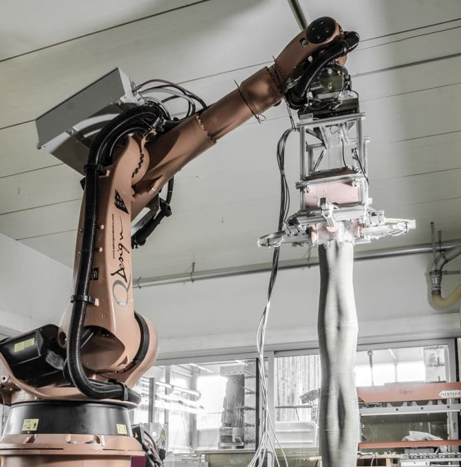 Smart Dynamic Casting- Six-axis robotic arm