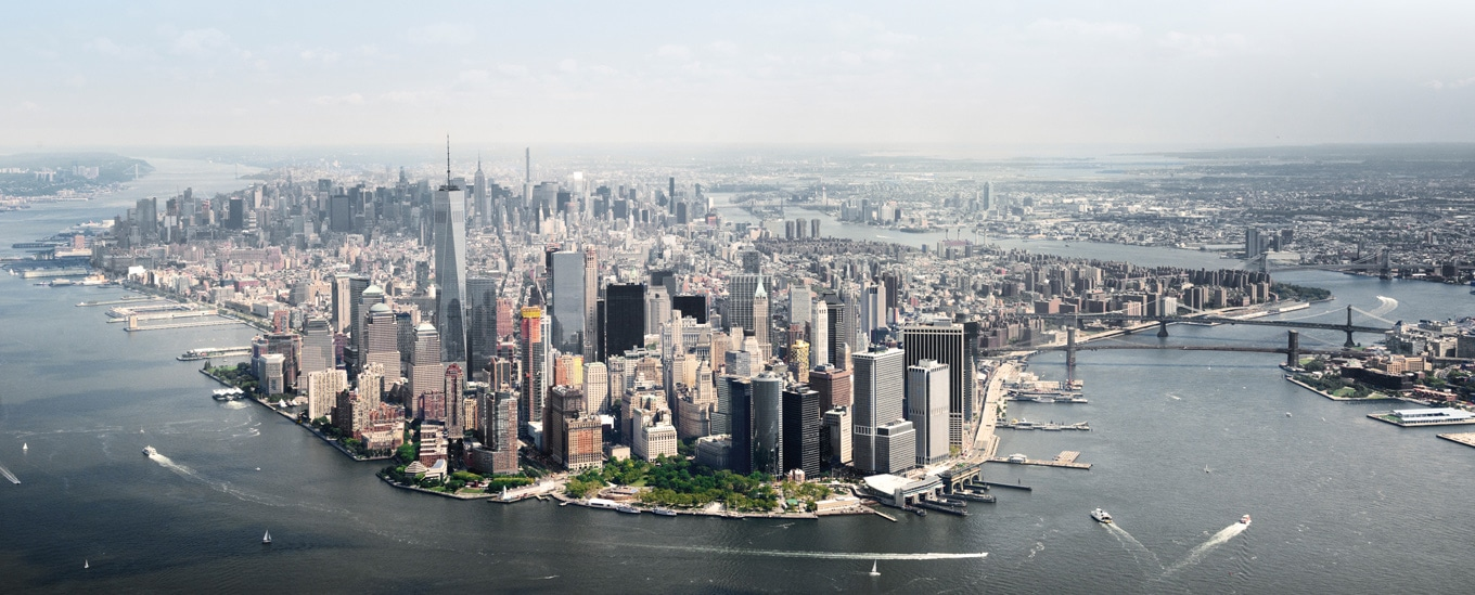 Manhattan island- Aerial View