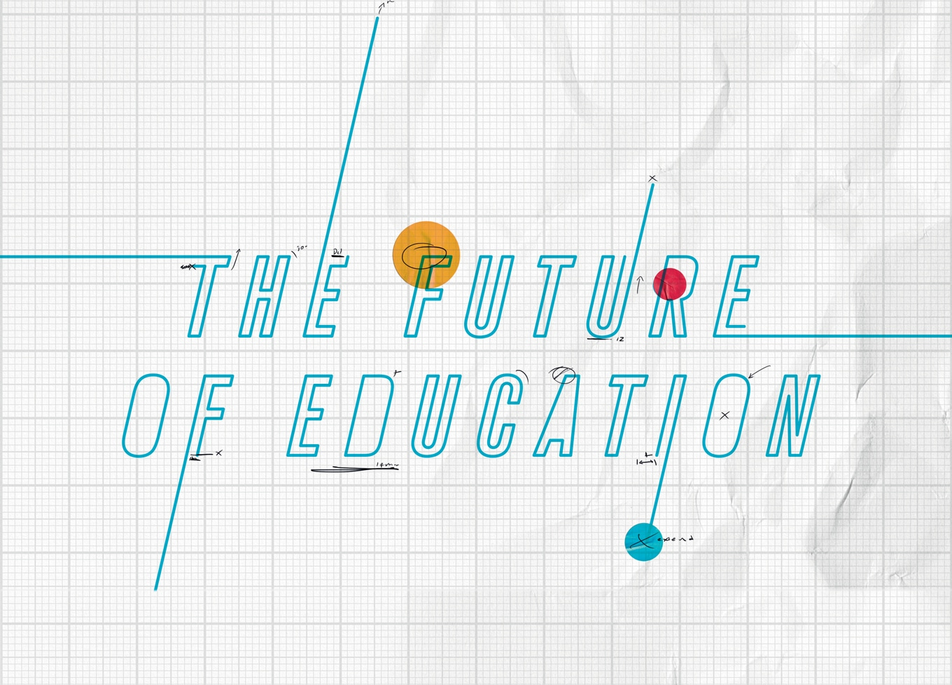 The Future of Education - Title in blue