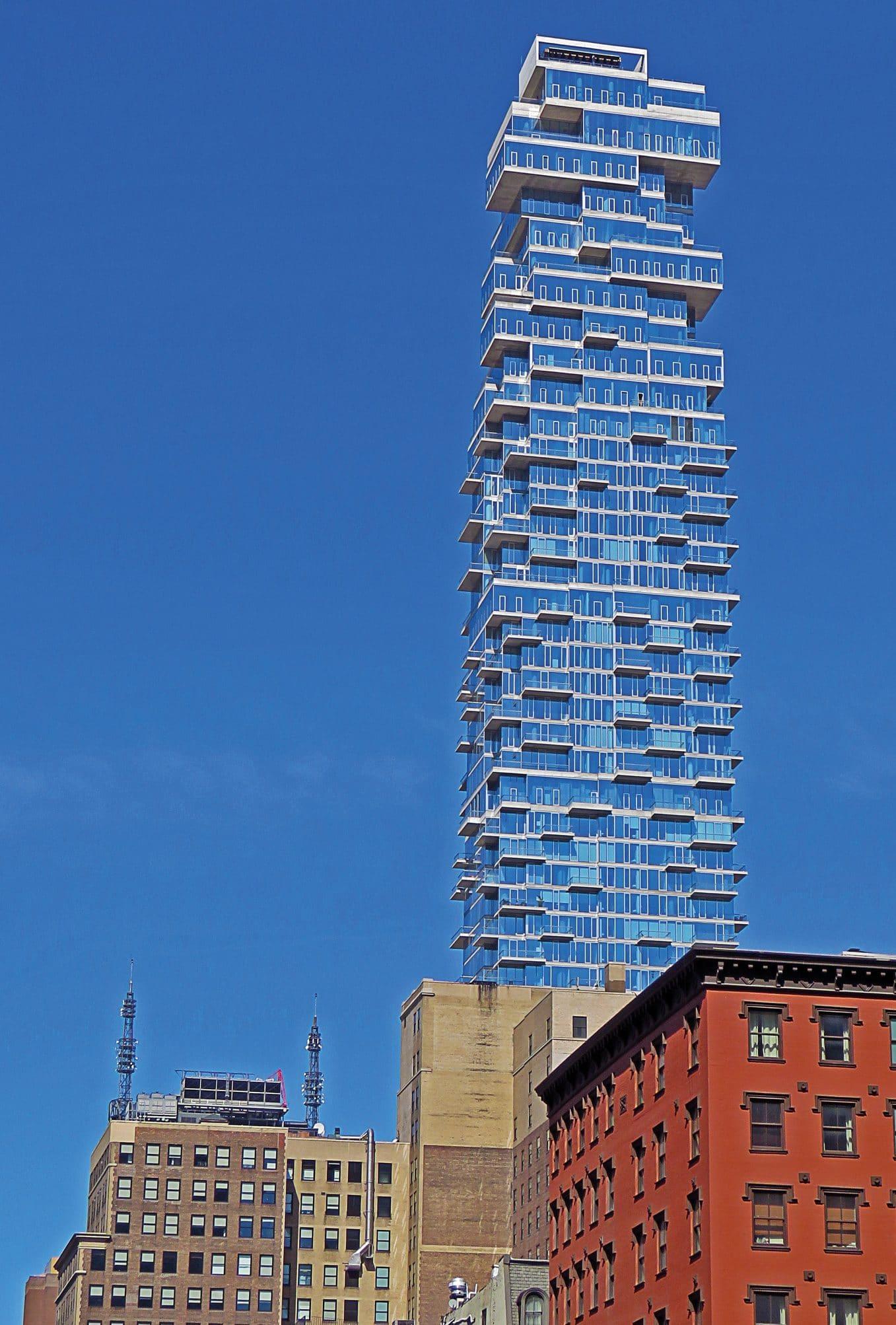 56 Leonard Street New York- Exterior View Facade