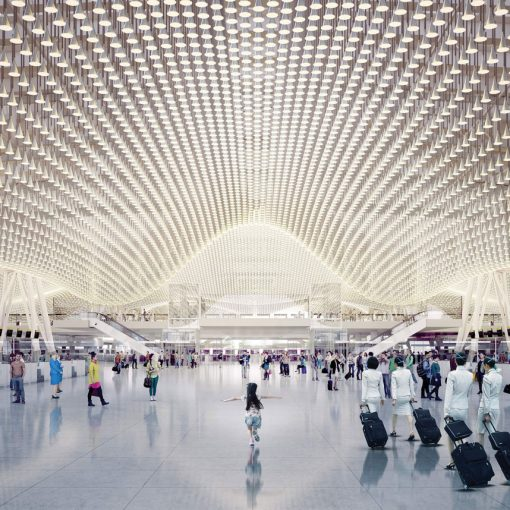 rendering of Terminal 3 at Taoyuan International Airport