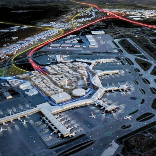 aerial view of Stockholm's Arlanda airport