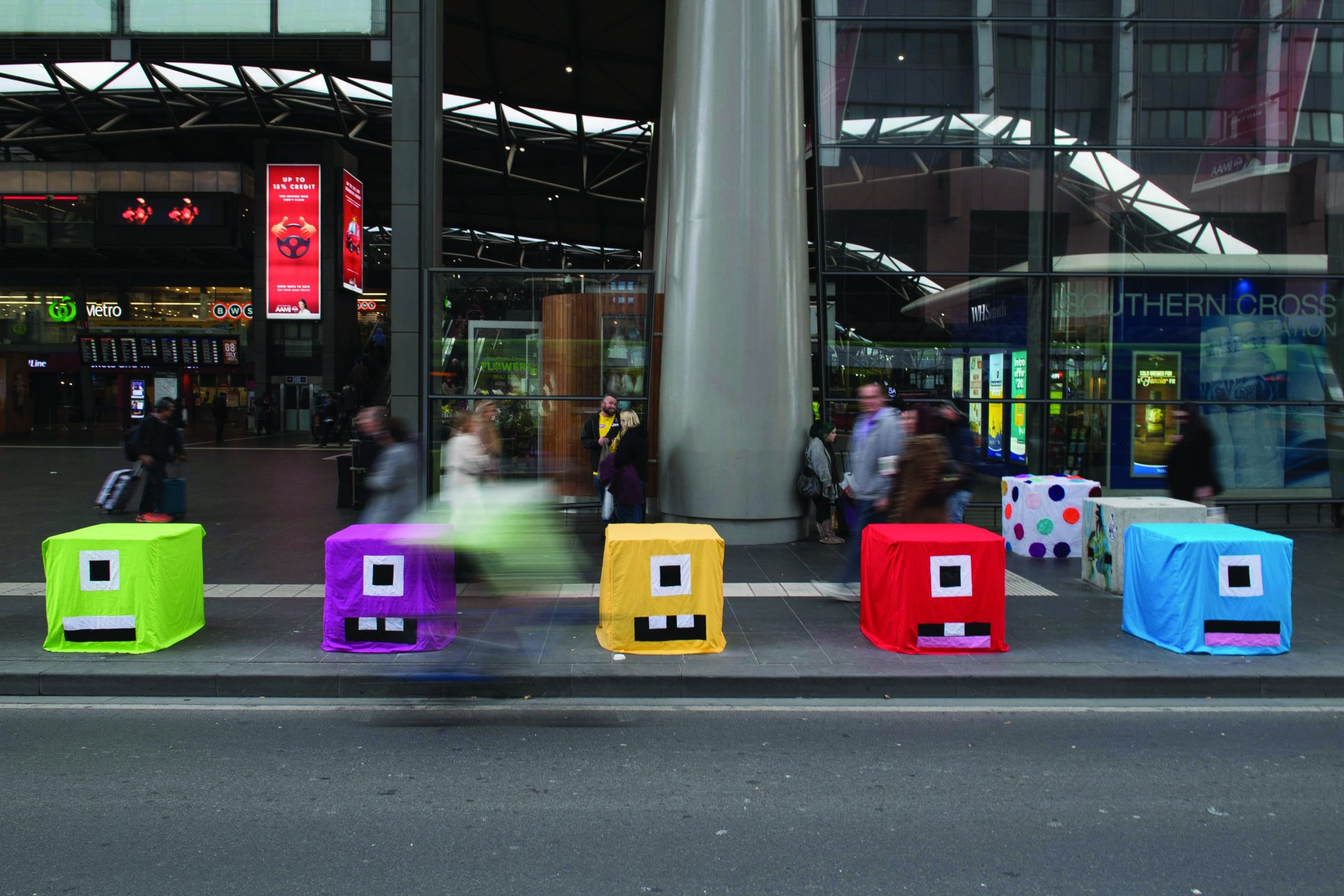concrete bollards were installed throughout central Melbourne