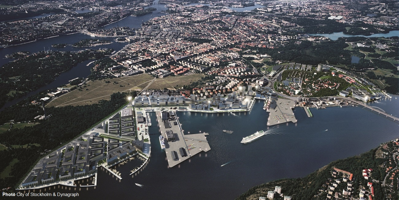Aerial Photo City of Stockholm & Dynagraph