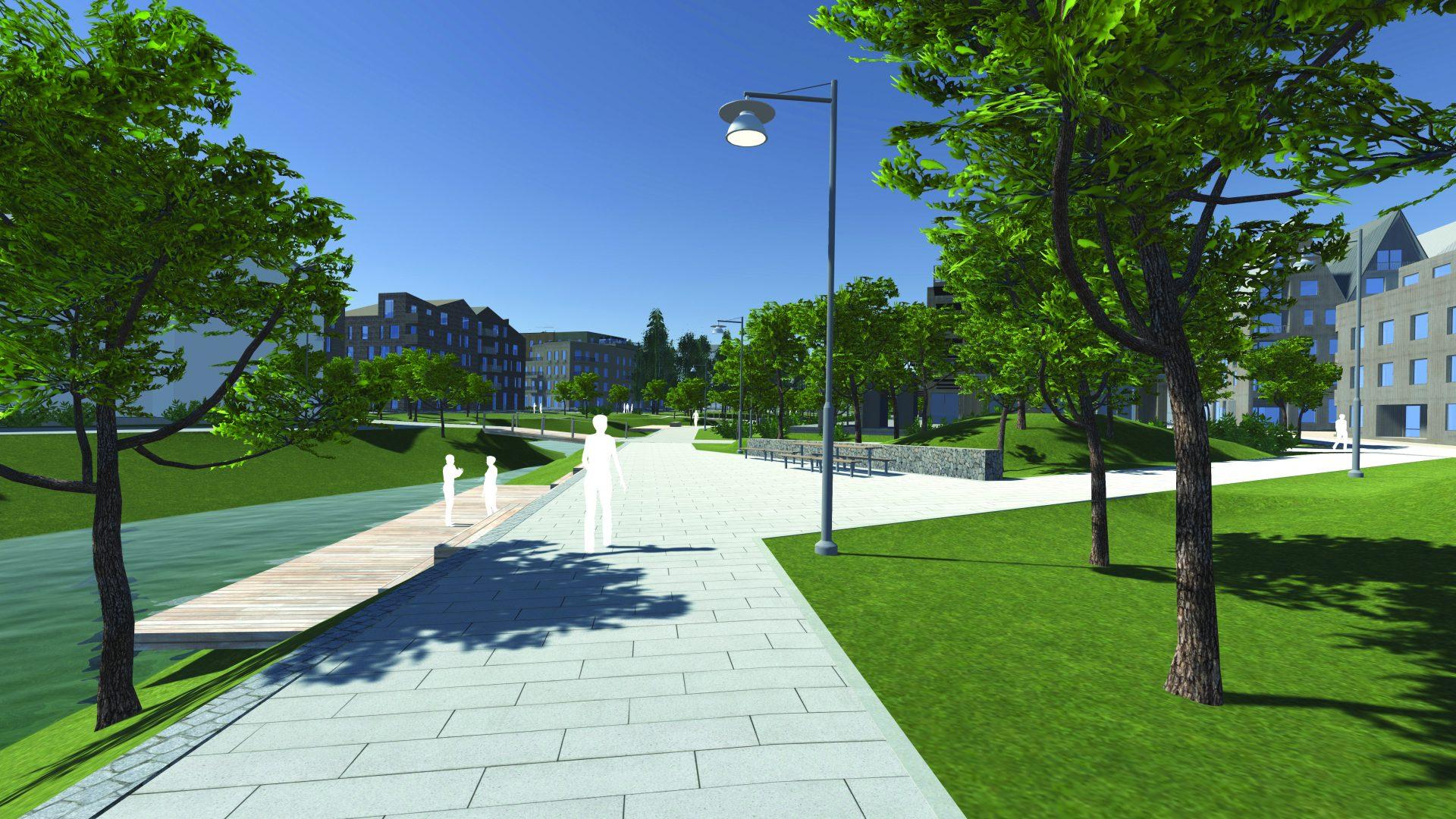 model shows the new Rosendal district in Uppsala, Sweden