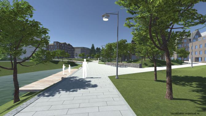 visualization of Rosendal district in Sweden