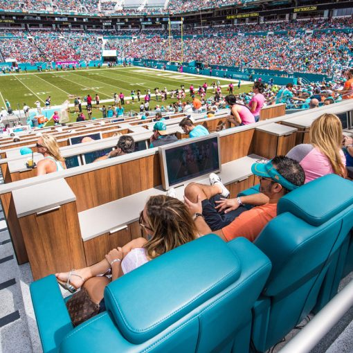 VIP seat at the Miami Dolphin's stadium