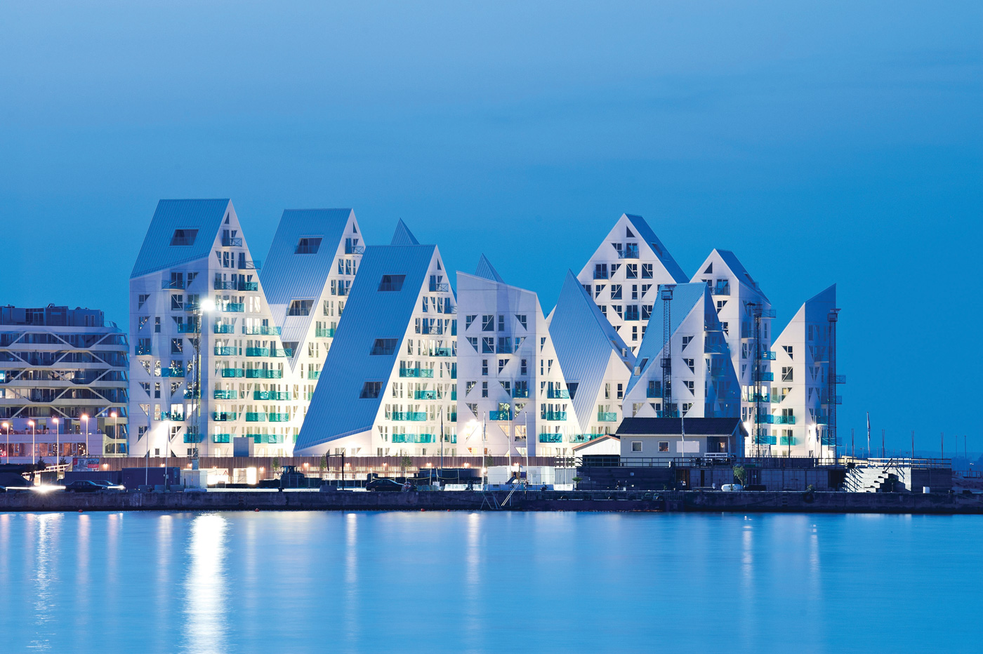 The Iceberg apartment complex in Aarhus, Denmark