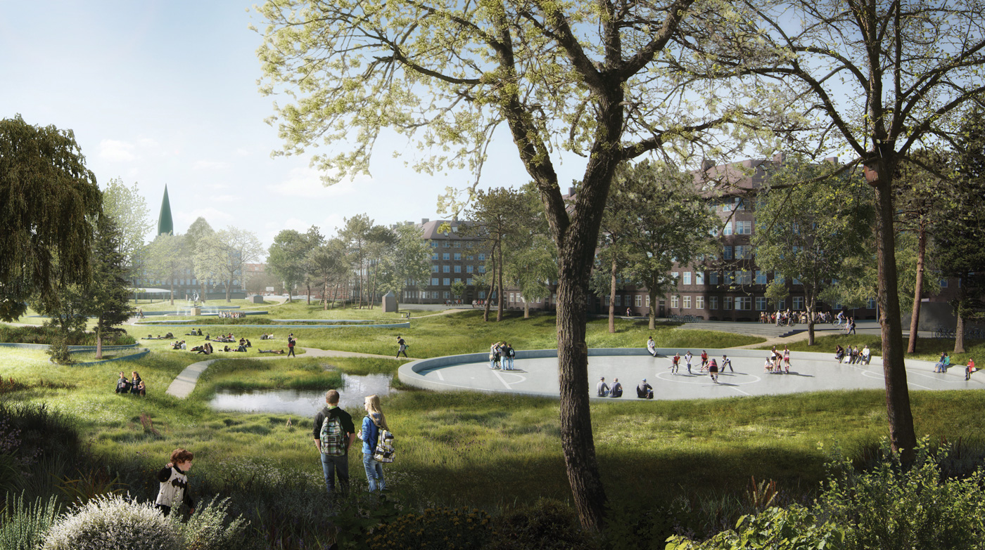 Visualization of the Hans Tavsens Park in Nørrebro