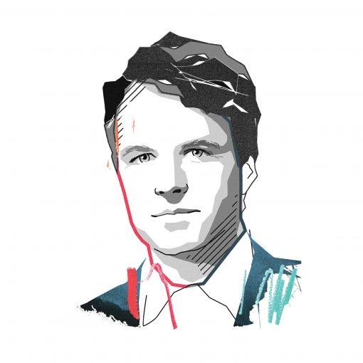 Illustration Bill Kerr - Harvard Professor