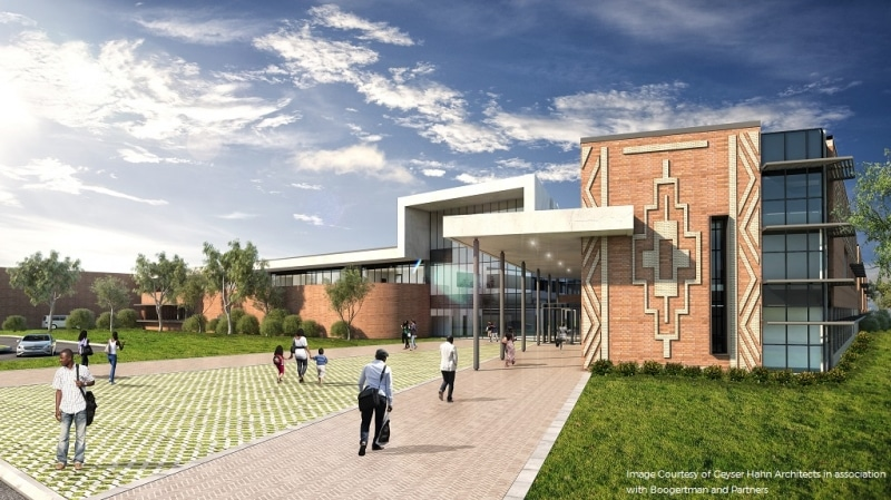 Visualisation of the Middelburg hospital in South Africa