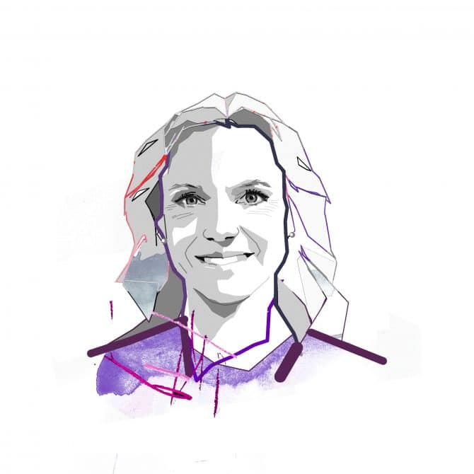Illustration of Maria Brogren is head of sustainability and innovation at WSP in Sweden