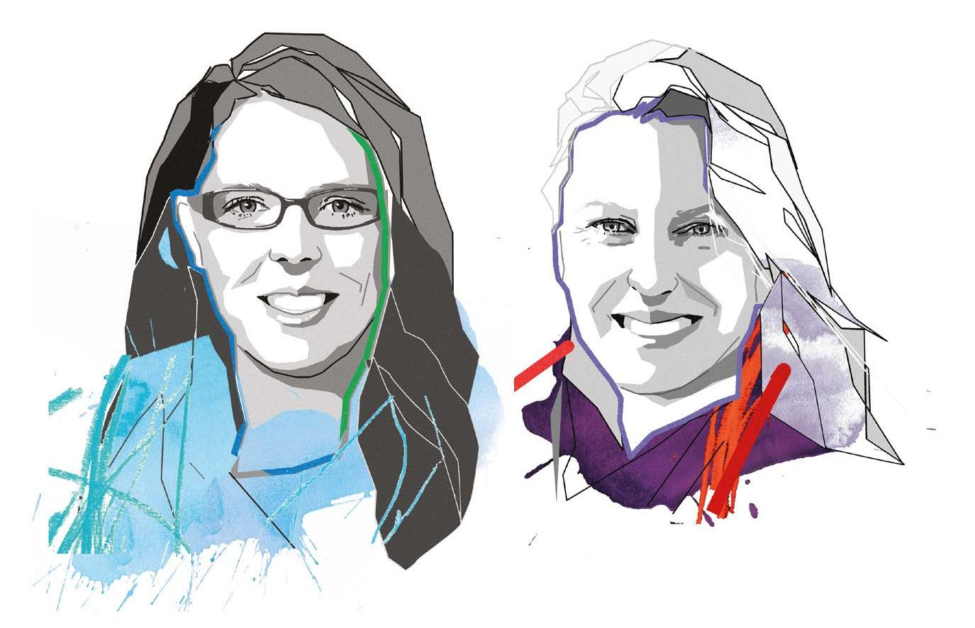 illustration of Emily Wasley and Kealy Herman WSP experts