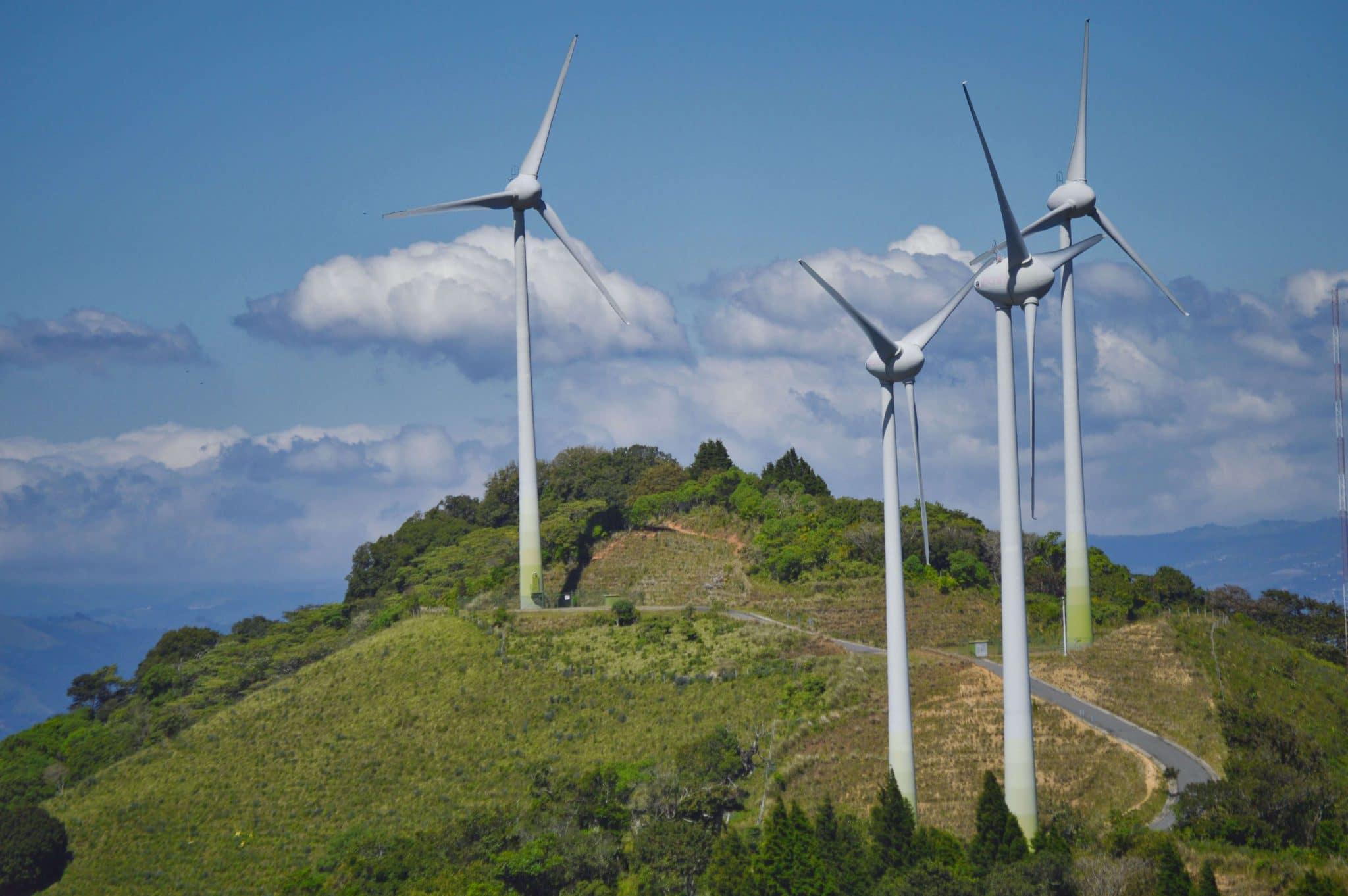 Photo of wind turbines in Costa Rica